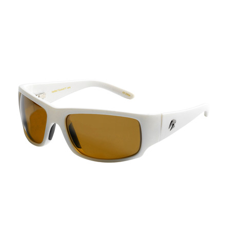 Eagle Eyes Optic // Cozmoz Polarized Sunglasses // White + Silver Flash Mirror