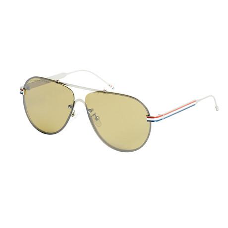 Eagle Eyes Optic // Hero Aviator Polarized Sunglasses // Steel Gray + Silver Mirror