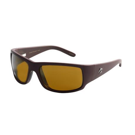 Eagle Eyes Optic // Cozmoz Polarized Sunglasses // Brown + Gold Flash Mirror