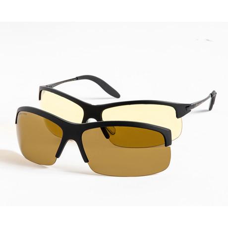 Eagle Eyes Optic // 2in1 PanoVu Multipurpose Eyeglasses // Matte Black