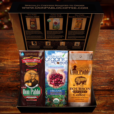 Don Pablo Specialty Coffee Sampler Gift Box Set of 3 // 12 oz