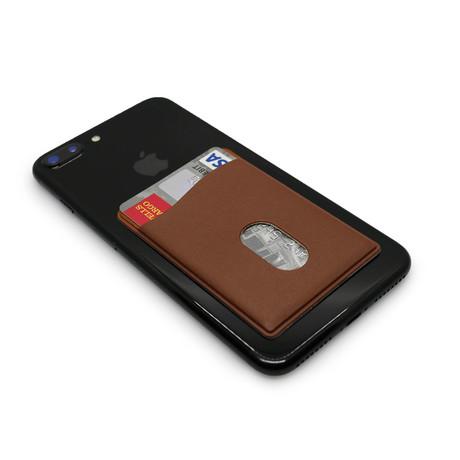 Smart Phone Stick-On Wallet // Espresso