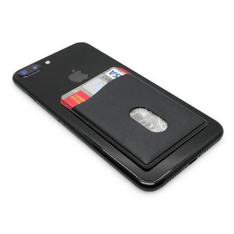 Smart Phone Stick-On Wallet // Black