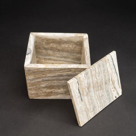 Banded Onyx Box + Lid