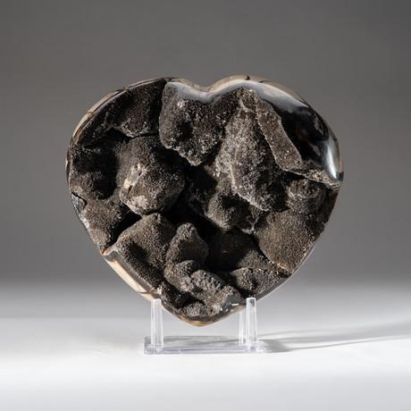 Septarian Drusy Heart