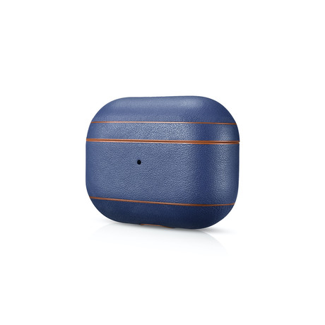 AirPod Pro Leather Case // Navy + Brown Trim