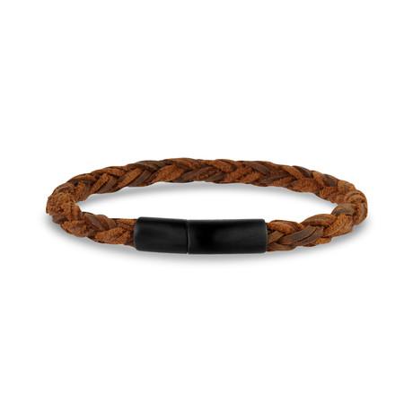 """Velvet Leather Bracelet // 6mm // Mixed Brown (7.5""""L)"""
