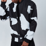 Cow Bomber Jacket // Black (M)