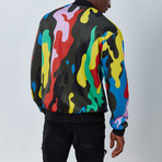 Abstract Bomber Jacket // Multicolor (M)