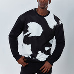 Cow Sweatshirt // Black (XL)