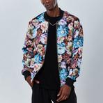 Floral Bomber Jacket // Multicolor (M)