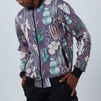 Cactus Bomber Jacket // Purple (M)
