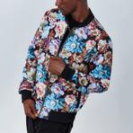 Floral Bomber Jacket // Multicolor (S)