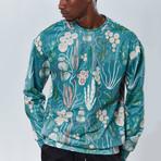 Cactus Sweatshirt // Blue (XL)