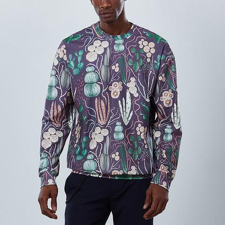 Cactus Sweatshirt // Purple (S)