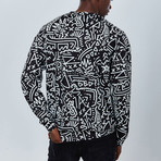 Hypnotic Sweatshirt // Black + White (M)