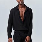 Classic Button Down Shirt // Black (S)