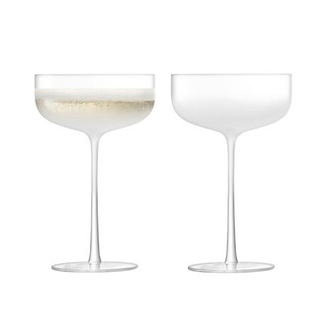 Mist Champagne + Cocktail Saucer // Set of 6