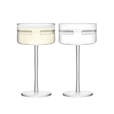 Horizon Champagne + Cocktail Saucer // Set of 4