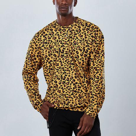 Full Cheetah Sweatshirt // Yellow (S)