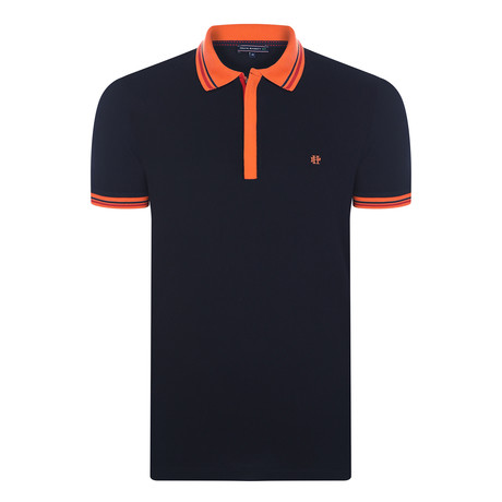 Aiden Short-Sleeve Polo Shirt // Black (XS)