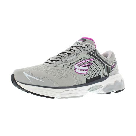 Scorpius Women's Sneaker // Standard Width // Gray + Fuchsia (US: 7)