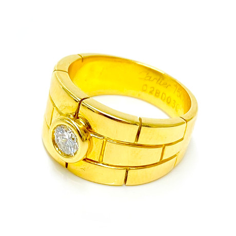 Cartier 18k Yellow Gold Diamond Solitare Ring // Ring Size: 6 // Pre-Owned