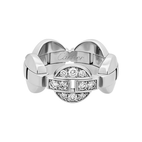 Cartier 18k White Gold Diamond Ring // Ring Size: 5.75 // Pre-Owned