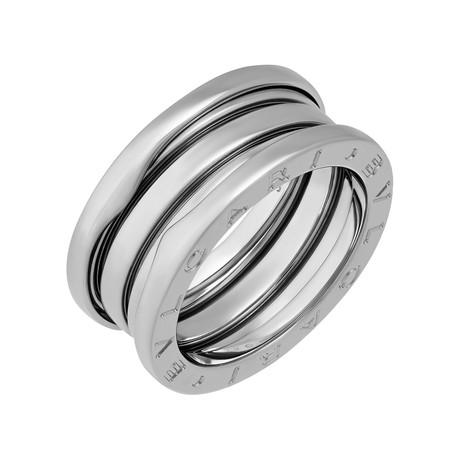 Bulgari 18k White Gold B.Zero1 3 Band Ring // Pre-Owned (Ring Size: 5.25)