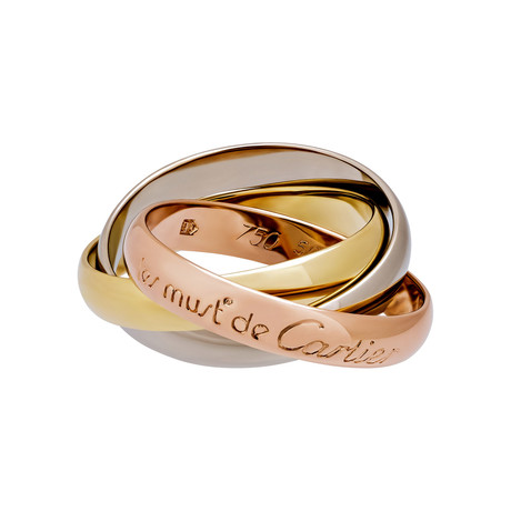 Cartier 18k Three-Tone Gold Le Must de Cartier Trinity Ring // Pre-Owned (Ring Size: 4.75)