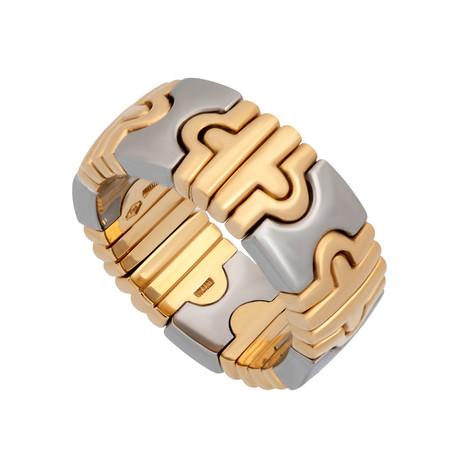 Bulgari 18k Yellow Gold + Stainless Steel Open Parentesi Ring // Ring Size: 6.75 // Pre-Owned