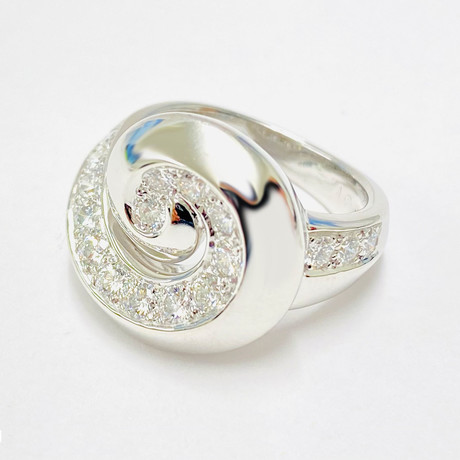Van Cleef & Arpels 18k White Gold Diamond Ring // Ring Size: 6 // Pre-Owned