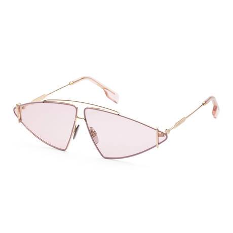 Burberry // Women's BE3111-1017-568 Sunglasses // Gold + Pink