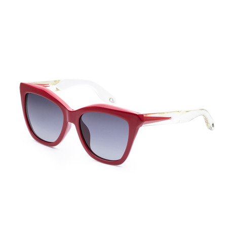 Givenchy // Women's GV7022FS-0PU4-HD Fashion Sunglasses // Red Crystal + Gray Gradient