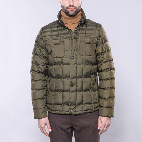 Slim-Fit Quilted Coat // Green (Euro: 44)