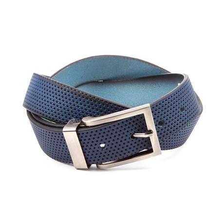 "Perforated Belt // Denim Blue (Size 32"")"
