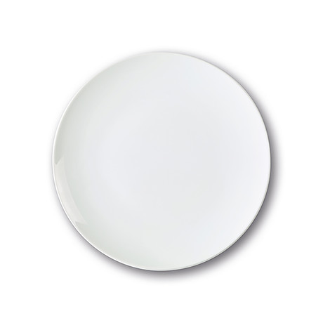 Culinaria Coupe // Warm Dinner Plate Set // Pure White (Set of 4)