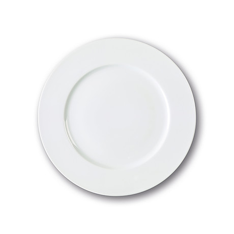 Culinaria Rim // Warm Dinner Plate Set // Pure White (Set of 4)