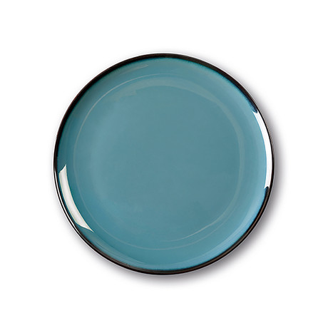 Calido Coupe // Warm Dinner Plate Set // Indian Blue (Set of 4)
