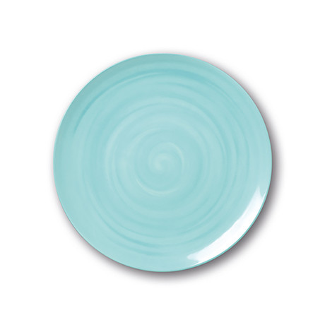 Culinaria Coupe // Cold Dinner Plate Set // Sky Blue (Set of 4)