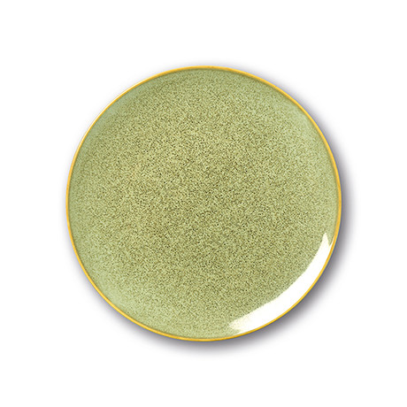 Culinaria Coupe // Warm Dinner Plate Set // Olive (Set of 4)