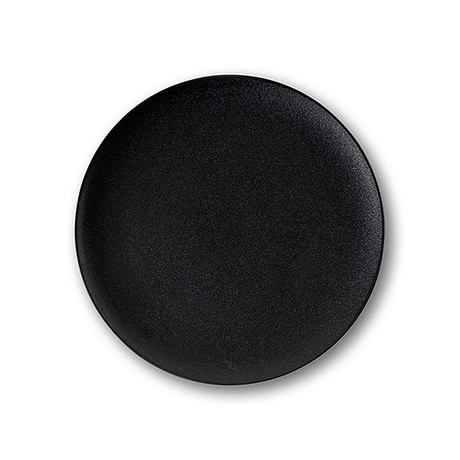 Calido Coupe // Cold Dinner Plate Set // Onyx Black (Set of 4)