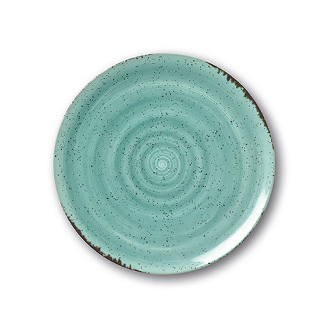 Culinaria Coupe // Warm Dinner Plate Set // Blue Lagoon (Set of 4)
