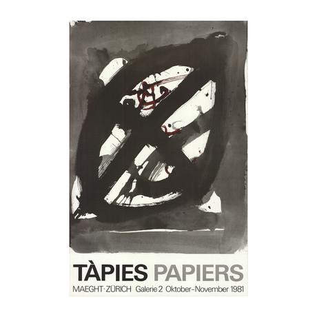 Antoni Tapies // Papiers // 1981 Offset Lithograph