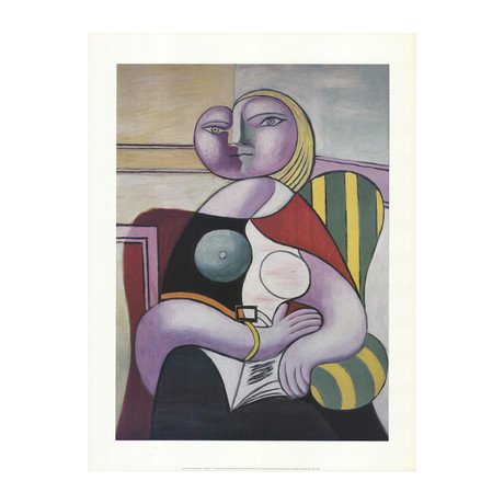 Pablo Picasso // Woman Reading // 1998 Offset Lithograph
