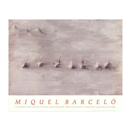 Miquel Barcelo // Paysage Avec Sept Fruits // 1989 Offset Lithograph