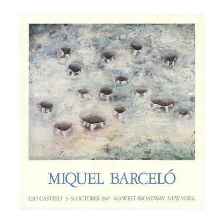 Miquel Barcelo // Fifteen Holes // 1987 Offset Lithograph