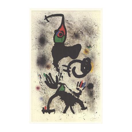 Joan Miro // Traversing // 1979 Offset Lithograph