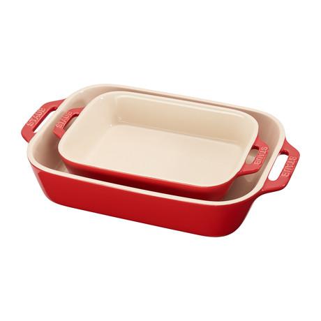 Rectangular Baking Dish // Set of 2 (Cherry)