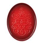 Noel Collection // Oval Santa Cookie Platter // Cerise